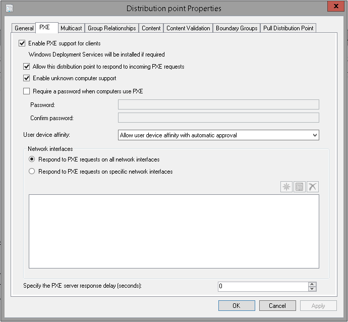configure dhcp for wds