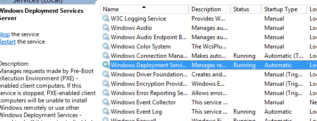 Installing manually WDS on SCCM Distribution Point without reboot